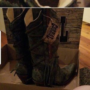 Vintage Corrall Boots sz 7 m